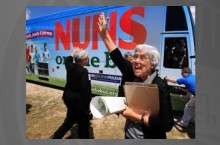 photo of nuns on a bus