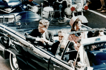 JFK in the limousine