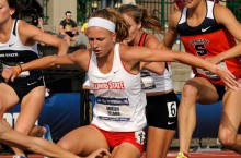 Zillmer competes in the steeplechase at Nationals.