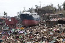 photo of typhoon destruction