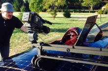 Solar car video shoot