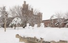 Cook Hall in snow