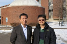 Associate Professor in the School of Teaching and Learning Do-Yong Park (Left) with 2007 Korea Teacher of the Year Sungin Oh