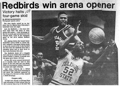 First Game at Redbird Arena Pantagraph Recap