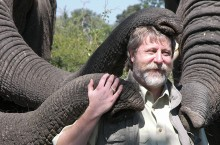 Michael Sailor with elephants