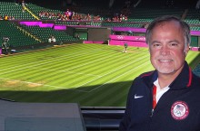 Craig Bohnert at Wimbledon Centre Court