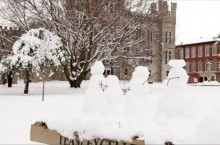 Snowmen on the quad