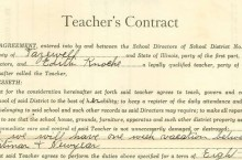 Teachers contract
