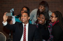 Don Lemon with students