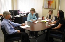 Budget Office staff discussing activities
