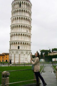 Kaitlin at Leaning Tower of Pisa
