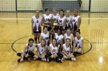 The Thomas Metcalf 7th grade volleyball team captured first place in the regional finals.