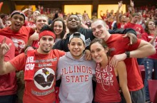 Red Alert students at a game