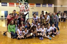The 2014 Thomas Metcalf volleyball team headed to the state finals competition.