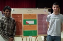 2014 Math Symposium showing Devin Akman and Sunil Chebolu