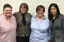 image of Jeanne Howard with plaintiffs of the Michigan same-sex marriage trial
