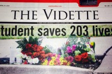 Vidette cover on April 7, 2014