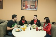 Students dining at Watterson Dining Commons