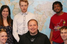 image of iHouse students and Matt Schwab