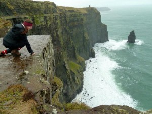 Casey at Cliffs of Moher