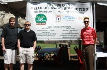 Sport management students at golf outing