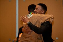 Master's graduate Anthony T. Williams Jr. rejoices