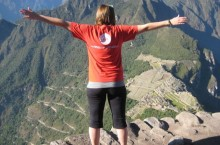 An ISU student enjoys the view during her summer program in Peru.
