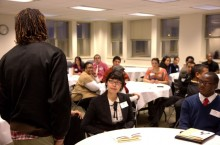 Students at Cultural Career Network event