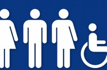 image of signage for all gender restrooms