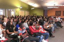 New international students at International Student Orientation