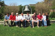 Redbird legacy family poses on Quad