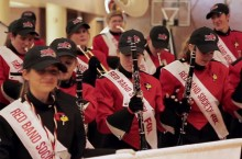 Big Red Marching Machine students dance