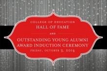 The College of Education's Hall of Fame inductees and Outstanind Young Alumni Award recipient will be honored during Illinois State's 2014 Homecoming celebration,