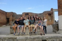 Illinois State University students on a study abroad trip to Italy