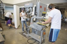 Students work in the University High School Wroan Engineering and Technology Center