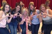 Lily at her 2012 Bid Night
