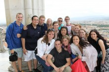 students at the top of the Duomo