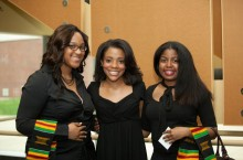Graduating students pose at Umoja