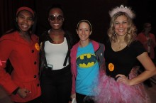 Students at a past Trick or Treat for Change event.