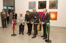 ISU-Town leaders cut Galleries ribbon