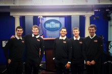 Redbird men's golf team visited the White House