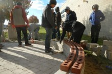 Students build NCHS patio