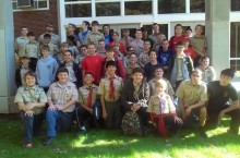 Boy Scouts pose for photo