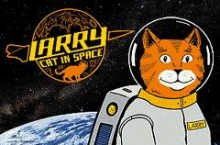 Larry Cat in Space logo