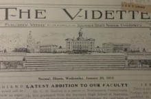 Front page of The Vidette from January 20, 1915.