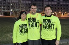 Neon at Night 5K Fun Run runners