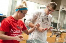 ISU students work in a lab