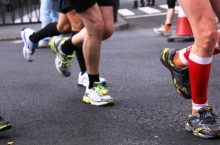 Photo of people's legs while they are running