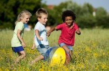 image of children at play