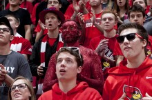 Glitter Guy in the stands